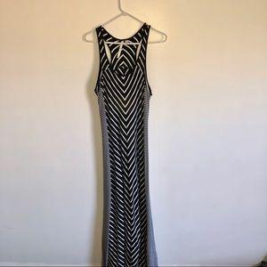 Black striped maxi dress - Lauren Conrad